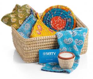 Kantha Kitchen fair trade basket